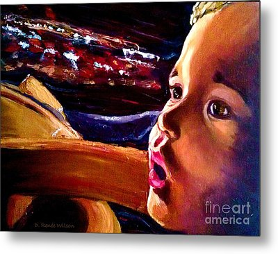 Metal Print featuring the painting Fright Of Dumbo by D Renee Wilson