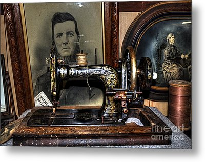 Frister And Rossmann - Old Sewing Machine Metal Print by Kaye Menner