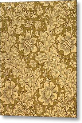 Fritillary Wallpaper Design Metal Print by William Morris