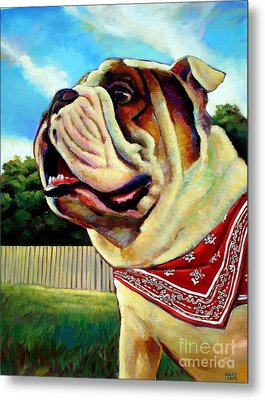 Metal Print featuring the painting Fritz by Robert Phelps