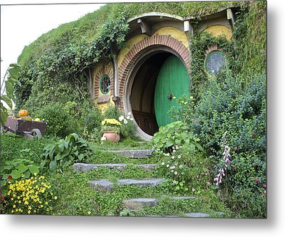 Frodo Baggins Lives Here Metal Print