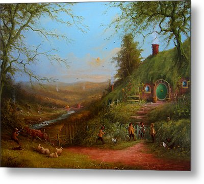 Frodo's Inheritance Bag End Metal Print by Joe  Gilronan