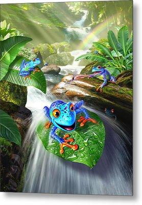 Frog Capades Metal Print by Jerry LoFaro