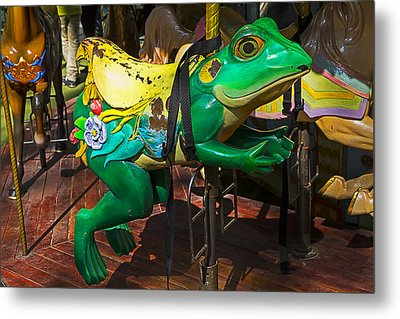 Frog Carrousel Ride Metal Print by Garry Gay