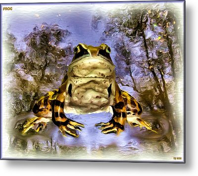 Metal Print featuring the digital art Frog by Daniel Janda