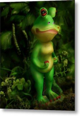 Frog Metal Print by Diane Bradley