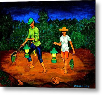 Frog Hunters Metal Print by Cyril Maza