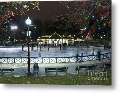 Frog Pond Ice Skating Rink In Boston Commons Metal Print