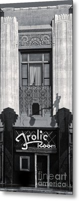 Frolic Room In Black And White Metal Print by Gregory Dyer