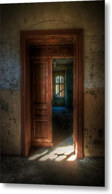 From A Door To A Window Metal Print by Nathan Wright