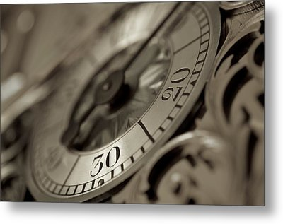 From A Grandfather Clock Metal Print by Alex King