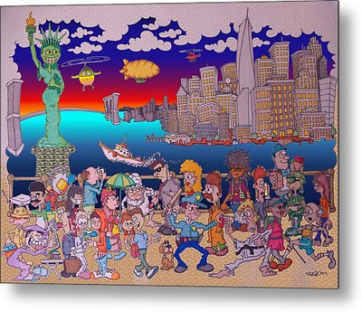 From Brooklyn With Love Metal Print by Paul Calabrese