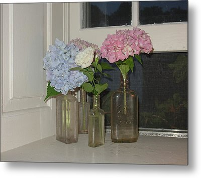 Metal Print featuring the photograph From My Window Sill  by Delona Seserman