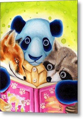 From Okin The Panda Illustration 10 Metal Print by Hiroko Sakai