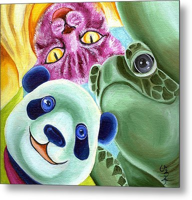 From Okin The Panda Illustration 9 Metal Print by Hiroko Sakai