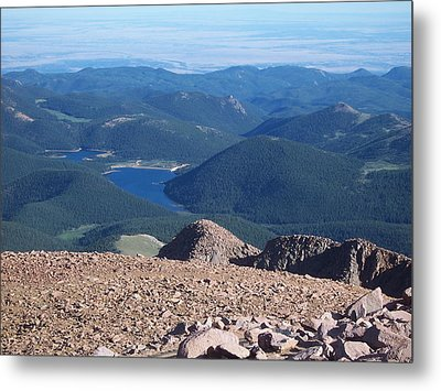Metal Print featuring the photograph From Pike's Peak by Sheila Byers