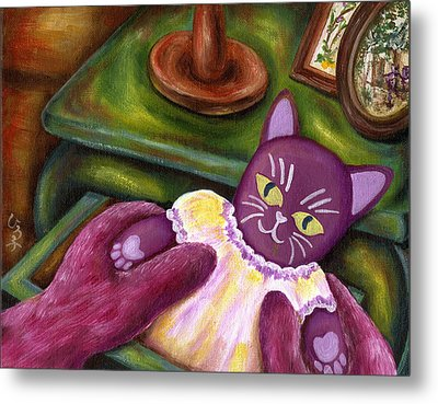Metal Print featuring the painting From Purple Cat Illustration 20 by Hiroko Sakai