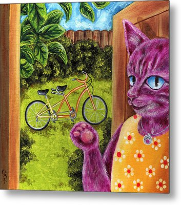 Metal Print featuring the painting From Purple Cat Illustration 22 by Hiroko Sakai