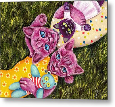 Metal Print featuring the painting From Purple Cat Illustration 23 by Hiroko Sakai