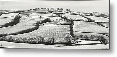 From Raddon Top In The Snow Metal Print by Pete Hemington