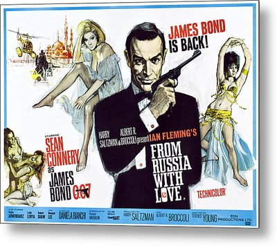 From Russia With Love, British Poster Metal Print by Everett
