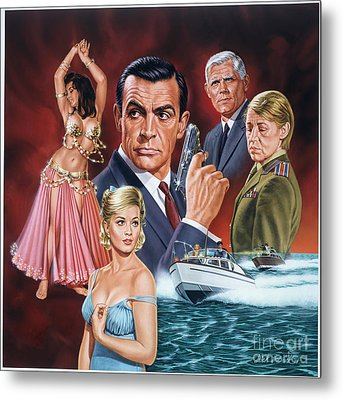 From Russia With Love Metal Print by Dick Bobnick