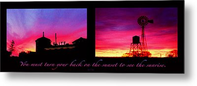 From Sunset To Sunrise Metal Print by Robert J Sadler