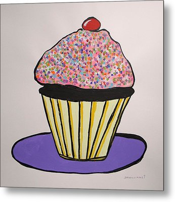 Metal Print featuring the painting From The Cupcake Cafe by John Williams