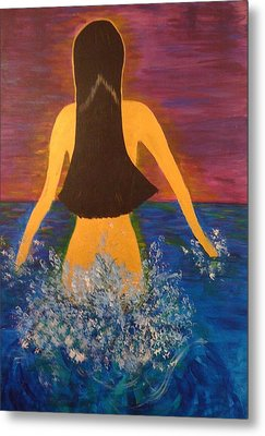 Metal Print featuring the painting From The Depths Of The Ocean by Judi Goodwin