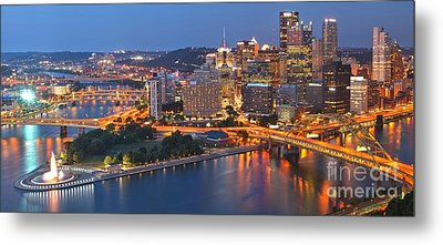 From The Fountain To Ft. Pitt Metal Print by Adam Jewell