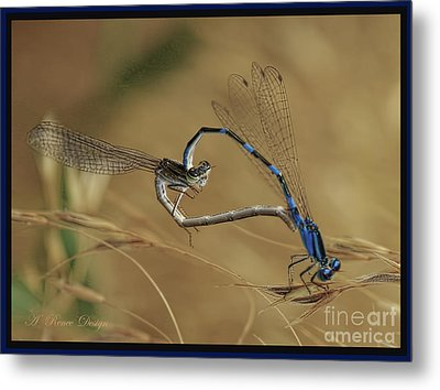 Love Bugs From The Heart Metal Print