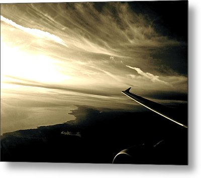 From The Plane Metal Print