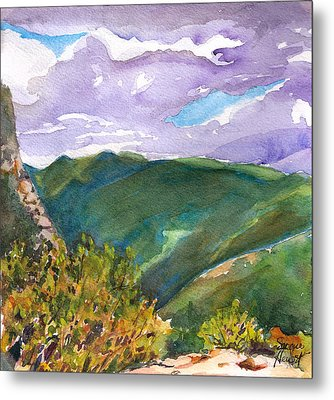 Metal Print featuring the painting From Tuckerman's Ravine by Susan Herbst