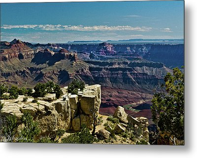 Metal Print featuring the photograph From Yaki Point 2 Grand Canyon by Bob and Nadine Johnston