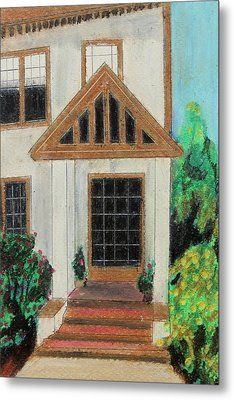 Metal Print featuring the painting Front Door 1 by Jeanne Fischer