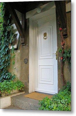 Metal Print featuring the photograph Front Door by Arlene Carmel