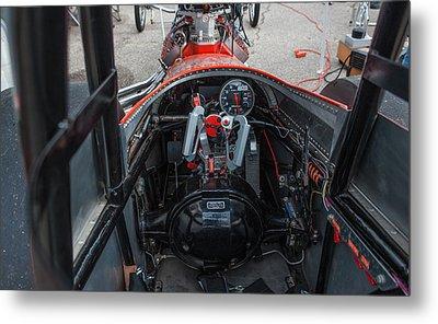 Front Engine Dragster Cockpit Metal Print