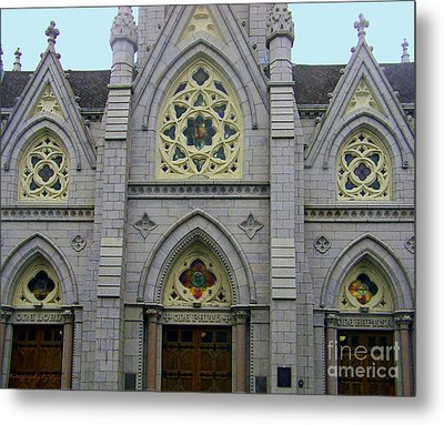 Metal Print featuring the photograph Front Of Church by Gena Weiser