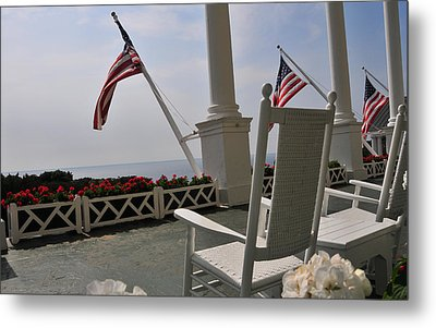 Front Porch II Grand Hotel On Mackinac Island Metal Print