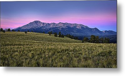 Front Range First Light Metal Print by Thomas Zimmerman