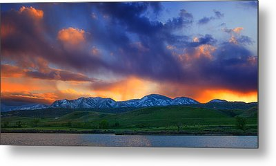 Front Range Light Show Metal Print by Darren  White
