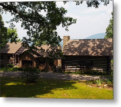 Front View Of The Cabin Metal Print by Robert Margetts