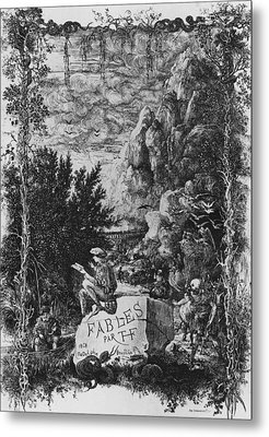 Frontispiece Illustration From Fables By Hippolyte De Thierry-faletans Metal Print