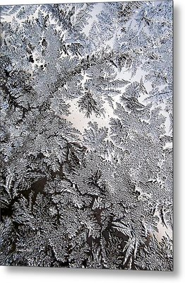Frosted Glass Abstract Metal Print by Christina Rollo