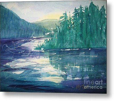 Frosted Lake View North South Lake Metal Print by Ellen Levinson
