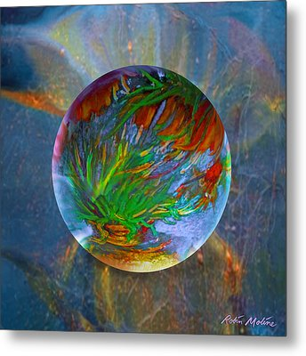 Frosted Still Metal Print by Robin Moline