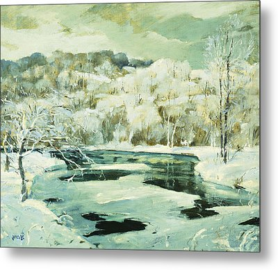 Frosted Trees Metal Print by Jonas Lie