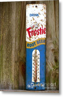 Metal Print featuring the photograph Frostie Root Beer  by Joy Hardee