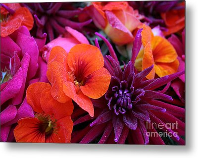 Metal Print featuring the photograph Dewy Blooms by Jeanette French