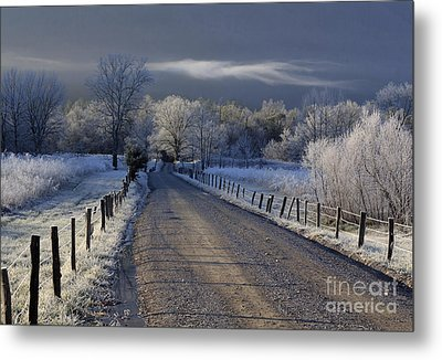 Frosty Cades Cove Hdr Metal Print by Douglas Stucky